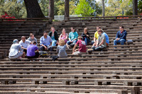 Class outdoors in Amphitheatre